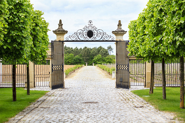 Gated entrance to a British country estate