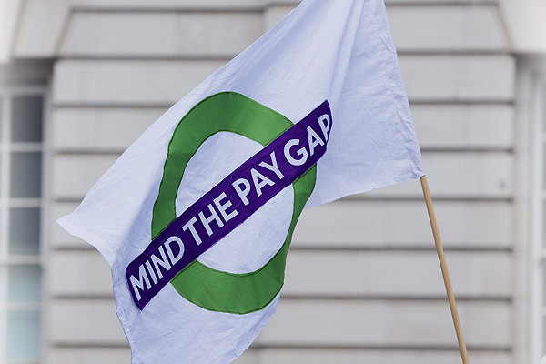 flag with mind the gap written on it