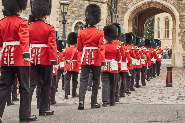 Red-coats at the Tower of London