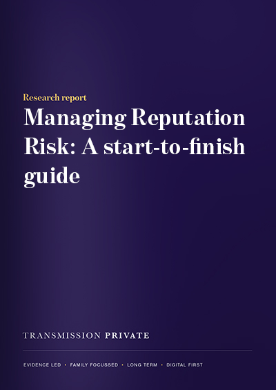 Managing Reputation Risk: A start-to-finish guide